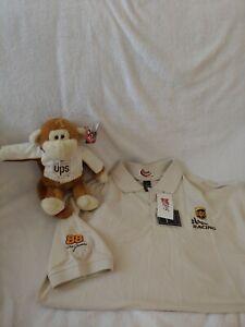 dale Jarret polo shirt XL NWT & Monkey Plush