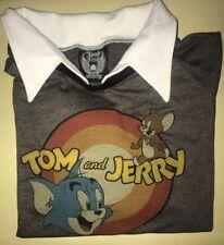 Womans Long Sleeve Tom & Jerry Collard T Shirt NWT Medium Junk Food Rare