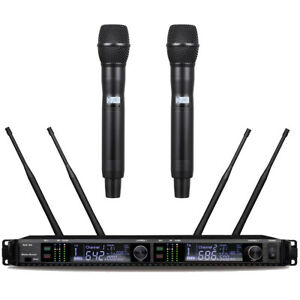 Large LED Digital Display AD4D Wireless Microphone DJ Karaoke Stage Sing Studio