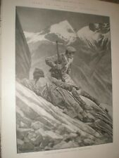 Hunting Ovis Ammon Chinese Turkestan RC Woodville 1902 old print ref AW