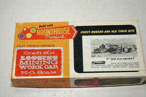 Roundhouse HO Old Timer Series 3-in-1 Craft Kit 1502 3 26' Flat Cars (Lot B)