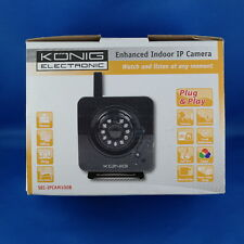 Konig WiFi IP Kamera IR LED Alarmen Bewegungsdetektion Bilder Cmos Sensor OVP