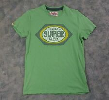 "Women's ""VINTAGE Super Dry"" Green Graphic T-Shirt / Asian Japan / Size M"