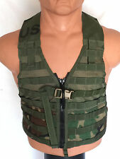 USGI Military MOLLE II Fighting Load Carrier Vest FLC Zipper Woodland Camo