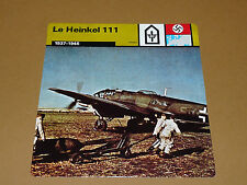 HEINKEL 111 1937-1945 LUFTWAFFE AVIATION FICHE WW2 39-45