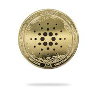 Cardano ADA Cryptocurrency Virtual Currency Gold Plated Coin | BITCOIN