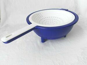 Tupperware Sieb Saladin Doppel - Sieb Blau
