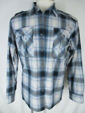 G Star Raw Mens Blue Plaid Long Sleeve Tunnel Gareth Shirt XXL