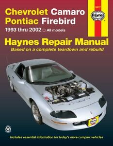 Haynes 24017 Repair Manual for Pontiac Firebird  & Chevrolet Camaro 1993 -02