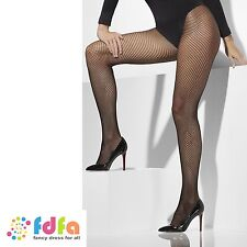 20s BLACK CLASSIC FISHNET TIGHTS PANTYHOSE plus size womens ladies fancy dress