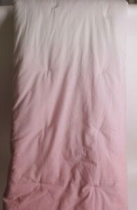Pottery Barn Teen Plant Dyed Dip Dye FQ quilt, full queen, rose pink & ivory