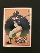 1991 Upper Deck Baseball - Hank Aaron - Heroes - Card # 23 NM