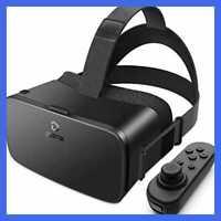 V5 VR Headset 110°FOV Eye Protected HD Virtual Reality W/ Bluetooth Controller F