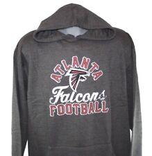 NEW Mens NFL Majestic Atlanta Falcons Charcoal Screen Printed Pullover Hoodie