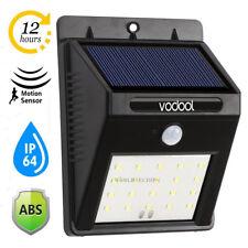 Waterproof 20 LED Solar Powered PIR Motion Sensor Wall Light Garden Lamp Lights