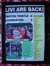 Partick Thistle 0 Livingston 1 - 2018 - Livingston promoted - framed print
