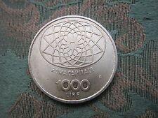 Roma Capitale 1000 Lire Concordia Argento moneta FDC  non circolata