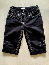 Vtg MOSCHINO Jeans DONNA Cropped Trousers Shorts BLACK Women's (4) Stitched
