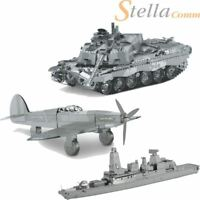 MOD 3D Metal DIY Build Your Own Educational Puzzle Tank Plane Ship
