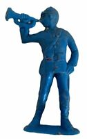 Vintage Action Figure Toy 1981 DFC Army Blue Retro Army Soldier Playing Trumpet
