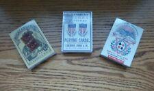 Lot / 3 Civil War Era Reproduction Playing Cards Highlanders Samuel Hart etc New