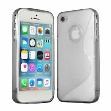 Clear Silicone Gel S-Line TPU Case Cover Protection for Apple iPhone 4 & 4S UK