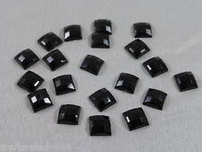 20 Glitzer - Steine Rhinestones 7 mm - Schwarz - NO hot fix