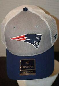 New England Patriots Fanatics Patriot Logo Men's Snap Navy/gray/WH Cap/Hat NWT