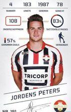 Football Tradingcard Plus 2015-2016 191 Jordens Peters Willem II Tilburg