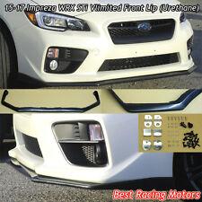 Vlimited Style Front Bumper Lip (Urethane) Fits 15-17 Subaru WRX STi