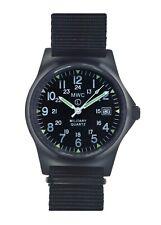 MWC G10LM1224 PVD Military Quartz Watch |50m|12/24hr Dial|Date Window|Luminova