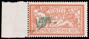 FRANCE 1920 2fr MERSON - GREEN CENTER MISPLACED - MNH #127 var. green color cove