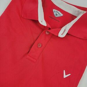 Callaway Women's Golf Polo Shirt Size Large Paradise Hot Pink BFSSK0192