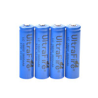 4pcs 3.7V 18650 Li-ion Rechargeable Battery Batteries for LED Torch TOY