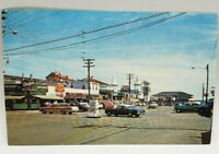 "Postcard Real Photo Old Orchard Beach, Maine ""Center of Town"" 1960's Old Cars"