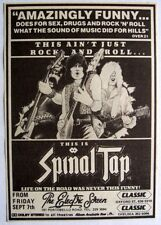 SPINAL TAP 1984 Advert THIS IS SPINAL TAP
