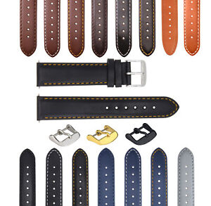 18-19-20-22-24-26MM LEATHER WATCH BAND STRAP SMOOTH FOR MOVADO
