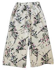 BOTANICAL Ladies Trousers UK 12 Jazzy Pants Bottoms Boho Floral Wide Leg