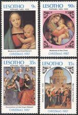 Lesotho 1987 Christmas/Greetings/Raphael/Art/Artists/Paintings 4v set (n16329b)