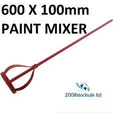 600 X 100MM PAINT MIXER STIRRING MIXING PADDLE PLASTERER DRILL ATTACHMENT