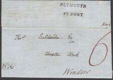 """1847 LGE PART PREPAID """"6"""" WRAPPER + """"No.6"""" RECEIVING HOUSE OF ORESTON TO WINDSOR"""