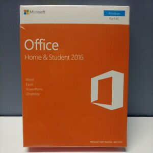 SEALED Microsoft Office Home and & Student 2016 1PC Key Card 79G-04597 Windows