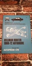 Autopress Hillman Hunter 1966-72 autobook AUTO D'EPOCA OFFICINA MANUALE tblo