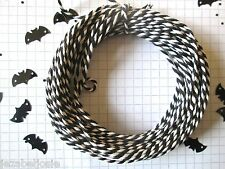 10, 20 or 30 mts  Black Stripe Cotton Bakers Twine for vintage tags & hallowe'en