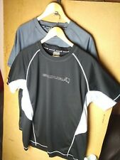 2 X ENDURA CAIRN S/S SHORT SLEEVED CYCLING/SPORTS BASELAYER XXL 1 BLK 1 GRY USED