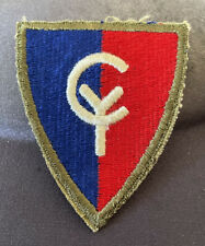 WWII Vintage 38th INFANTRY DIVISION US ARMY PATCH OD Border Cut Edge Original