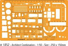 ARCHITECTS DRAFTING KITCHEN & LIVING ROOM FURITURE - PLAN VIEW 1:50