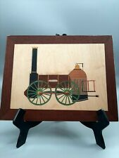 Liverpool Train Marquetry Craft Kit:Woodworking Marquetry Picture 260x188mm
