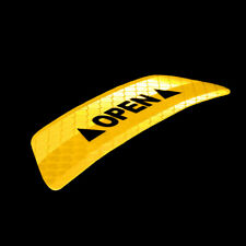 1PC ONLY Car Door Open Sticker YELLOW Color Super Reflective Tape