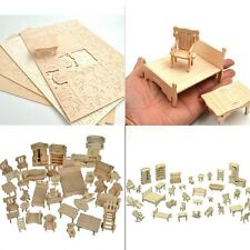Doll house DIY Wooden 34 Piece Furniture set